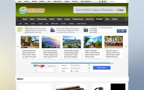 Screenshot of Products Page bookitnow.com - Products | Holiday Deals | Global Travel - captured Oct. 27, 2014