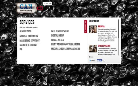 Screenshot of Services Page can-advertising.com - services | CAN Advertising - captured Oct. 1, 2014