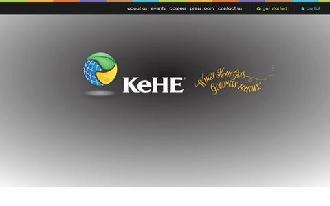 Screenshot of Home Page kehe.com - KeHE Distributors, LLC – Where KeHE Goes… Goodness Follows® - captured Oct. 4, 2019
