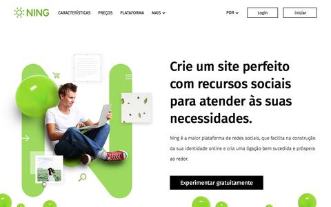 Screenshot of ning.com - NING: Criador de sites gratis - Fazer su página da web social - captured June 3, 2017