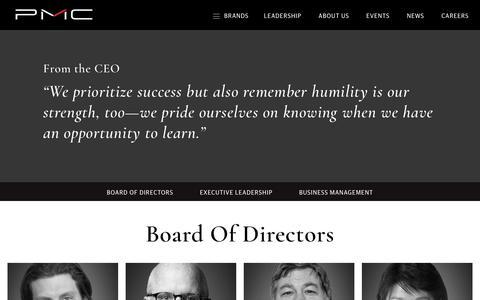 Screenshot of Team Page pmc.com - Leadership | - captured Sept. 26, 2018