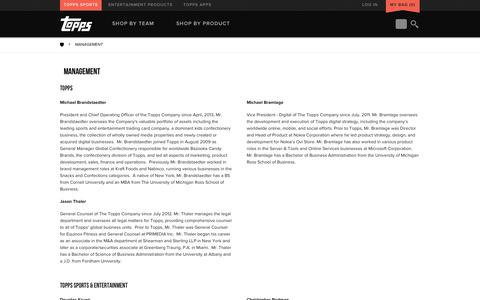 Screenshot of Team Page topps.com - Management - captured Sept. 19, 2014