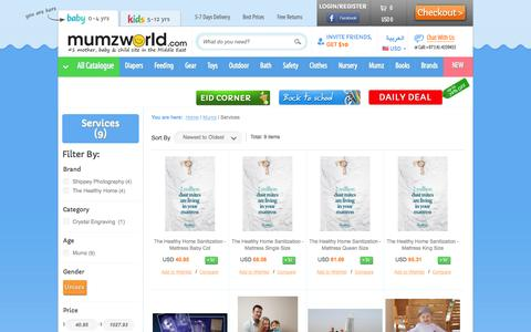 Screenshot of Services Page mumzworld.com - Mumz and Maternity Services | Children and Family Services | Mumzworld - captured Sept. 19, 2014