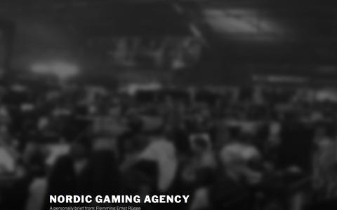 Screenshot of Home Page nordicretail.dk - Nordic Gaming Agency – A personally brief from: Flemming Ernst Rügge - captured Oct. 22, 2017