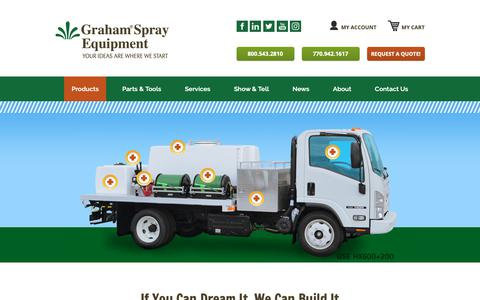 Screenshot of Products Page grahamse.com - Graham Spray Equipment » Products - captured Nov. 11, 2018