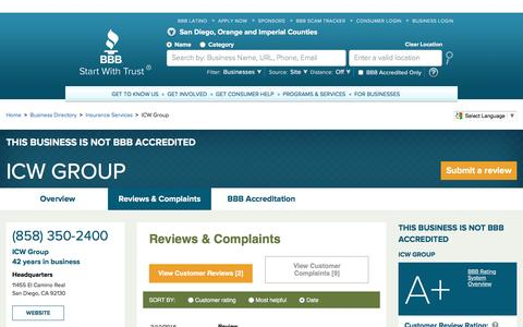 BBB Business Profile | ICW Group | Reviews and Complaints