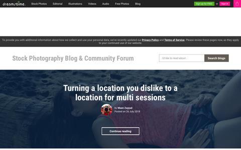 Screenshot of Blog dreamstime.com - Stock Photography Blog & Community Forum - Dreamstime - captured July 30, 2018