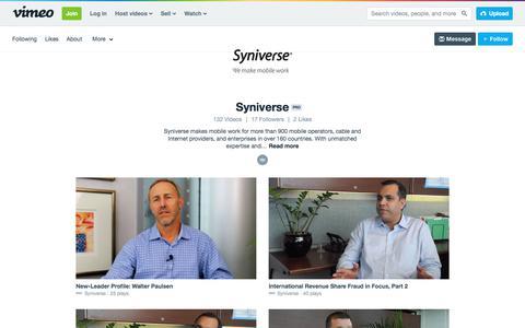 Syniverse on Vimeo