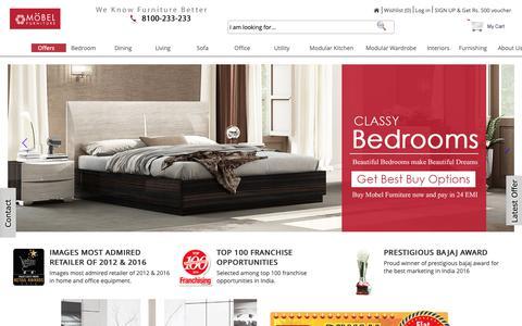 Screenshot of Home Page mobelhomestore.com - Furniture Online - Buy Furniture Online India - MobelHomeStore - captured Nov. 7, 2018