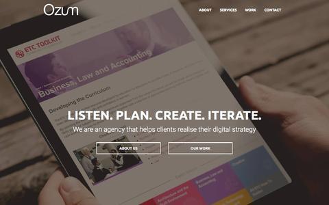 Screenshot of Home Page ozum.co.uk - Web Design Newport, Cwmbran | Website Designers South Wales | Ozum Ltd - captured Feb. 17, 2016