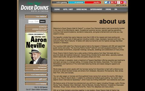 Screenshot of About Page doverdowns.com - About Us - Dover Downs Hotel & Casino - captured Oct. 12, 2017