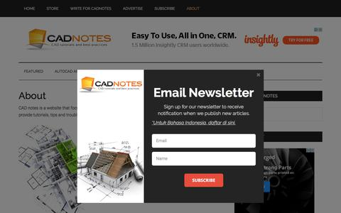 Screenshot of About Page cad-notes.com - About CAD notes | CADnotes - captured Oct. 25, 2017