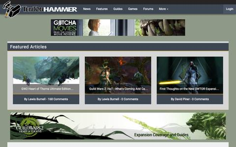 Screenshot of Home Page tentonhammer.com captured Oct. 26, 2015