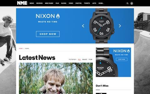 Screenshot of Press Page nme.com captured Nov. 27, 2015