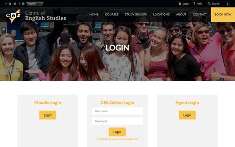 Screenshot of Login Page ces-schools.com - Login - captured Nov. 1, 2016