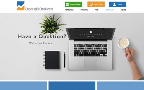 Screenshot of Contact Page successbyemail.com - SuccessByEmail   Contac - captured Oct. 24, 2017