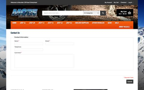 Screenshot of Contact Page mountainoffroad.com - Contact Us - MORE - captured April 26, 2018