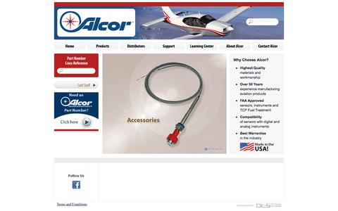 Screenshot of Home Page alcorinc.com - Alcor, Incorporated | Makers of Precision Aviation Products - captured July 29, 2018
