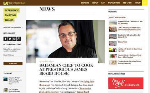 Screenshot of Press Page eatthecaribbean.com - News | EAT The Caribbean - captured Oct. 22, 2014