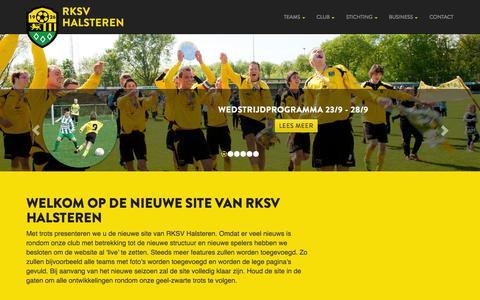 Screenshot of Home Page rksvhalsteren.nl - Homepage - RKSV Halsteren - captured Sept. 26, 2014