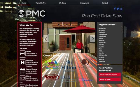 Screenshot of Home Page runfastdriveslow.com - PMC Parking | Run Fast Drive Slow - captured Jan. 25, 2016