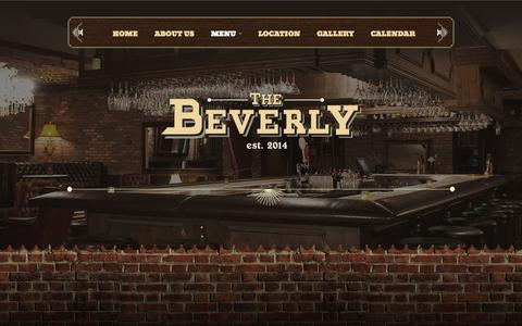 Screenshot of Menu Page thebeverly.us - The Beverly | MENU - captured Oct. 29, 2014