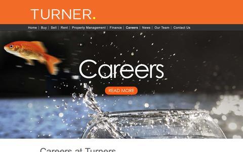 Screenshot of Jobs Page turnerrealestate.com.au - Careers | Turner Real Estate, Adelaide - captured Sept. 28, 2016