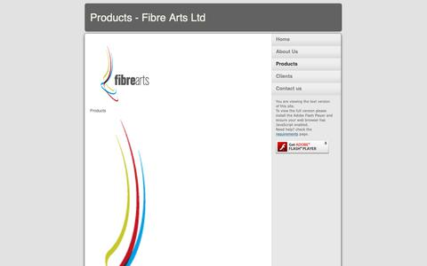 Screenshot of Products Page fibrearts.uk.com - Products - Fibre Arts Ltd - captured Oct. 10, 2018