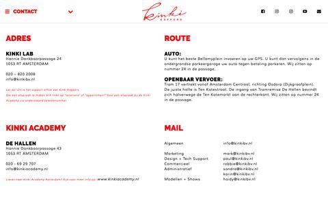 Screenshot of Contact Page kinki.nl - Contact Kinki Kappers - captured Nov. 27, 2016