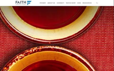 Screenshot of Home Page faith-community.org - Home - Faith Community Church - captured Oct. 5, 2014