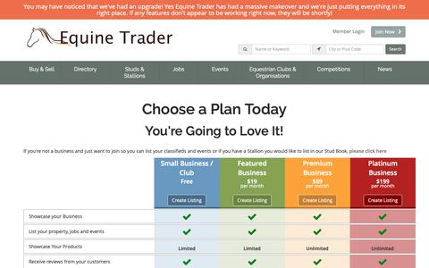 Screenshot of Signup Page equinetrader.co.nz - Join Equine Trader New Zealand - Today! - captured Dec. 8, 2018