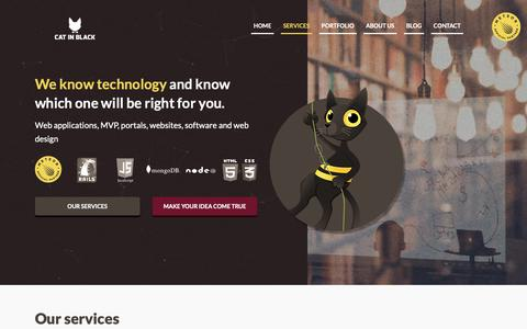 Screenshot of Services Page catin.black - Cat In Black | Services - captured Dec. 6, 2018