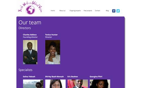 Screenshot of Team Page youthwithaglobalvision.org - Youth with a Global Vision - captured Jan. 10, 2016