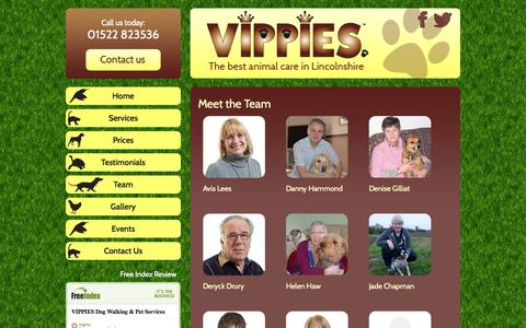 Screenshot of Team Page vipslincoln.co.uk - Team - Vippies - captured Oct. 7, 2014