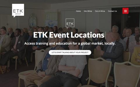 Screenshot of Locations Page etkgroup.co.uk - Locations Archive - ETK - captured July 11, 2017