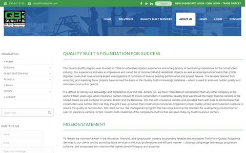 Screenshot of About Page qualitybuilt.com - About Quality Built - Quality Built - captured July 14, 2016