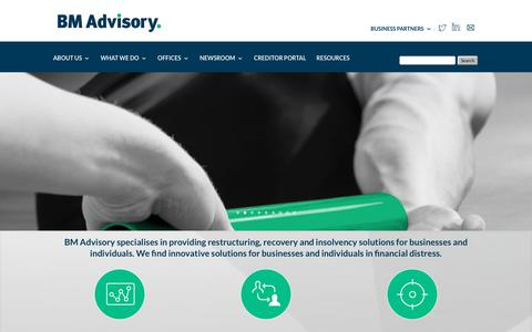 Screenshot of Home Page bm-advisory.com - Homepage - BM Advisory - captured Oct. 9, 2017