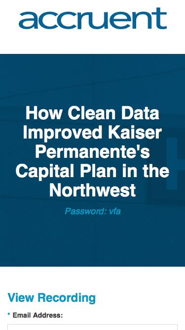 How Clean Data Improved Kaiser Permanente's Capital Plan in the Northwest