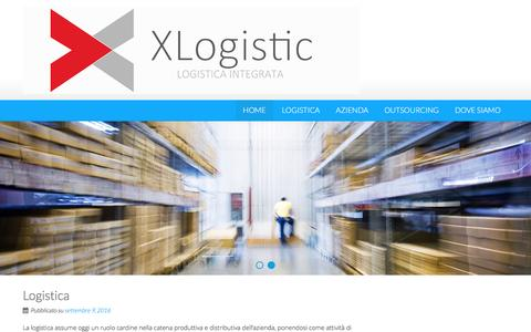 Screenshot of Home Page xlogistic.it - X LOGISTIC – Logistica e outsourcing - captured Nov. 17, 2016