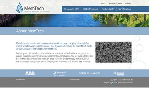 Screenshot of About Page memtech-water.com - About MemTech | MemTech - captured Oct. 22, 2014