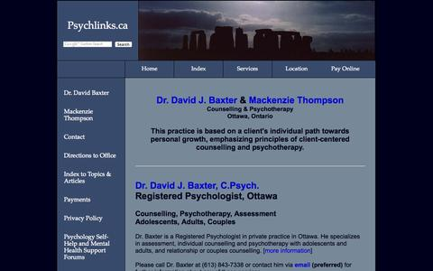 Screenshot of Services Page psychlinks.ca - Ottawa Psychologists and Counsellors - Counselling, Psychotherapy, Assessment - captured Nov. 3, 2014