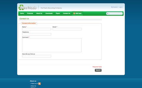 Screenshot of Contact Page besstrade.eu - Magento Commerce - captured Sept. 30, 2014