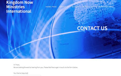 Screenshot of Contact Page thekingdomishere.com - Contact Us – Kingdom Now Ministries International - captured Oct. 17, 2017