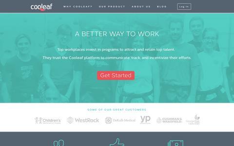 Screenshot of Home Page cooleaf.com - Talent Retention Modernized | Cooleaf - captured Dec. 4, 2015