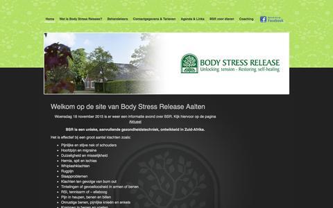 Screenshot of Home Page bsr-aalten.nl - Welkom op de site van Body Stress Release Aalten - BSR Aalten : BSR Aalten - captured Feb. 7, 2016