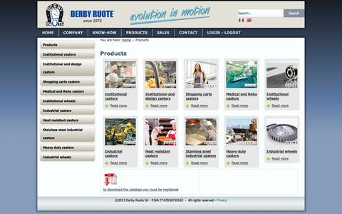 Screenshot of Products Page derbyruote.com - Derby Ruote - Products - captured Nov. 6, 2018