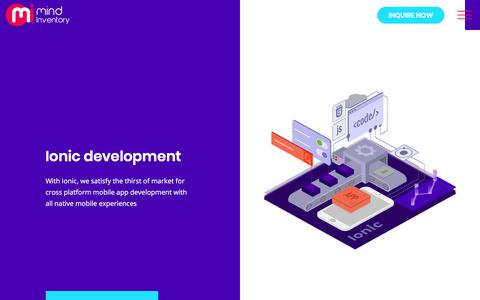 Screenshot of mindinventory.com - Ionic Development India | Ionic Mobile App Development Company - captured Sept. 17, 2017