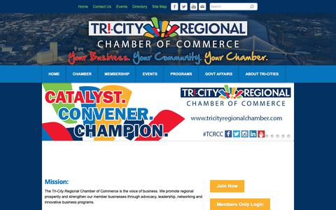 Screenshot of About Page tricityregionalchamber.com - About Us - Tri-City Regional Chamber of Commerce | Kennewick, WA - captured Oct. 20, 2018