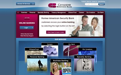 Screenshot of Home Page Terms Page cbbank.com - Citizens Business Bank - captured Sept. 19, 2014
