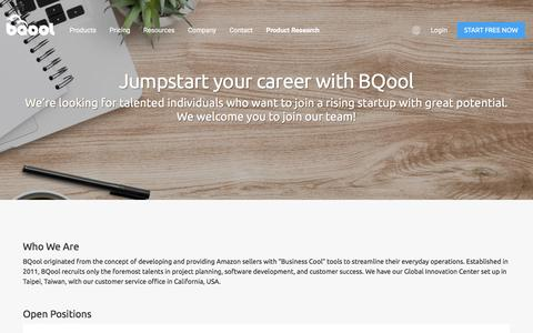 Screenshot of Jobs Page bqool.com - hiring Archives - BQool - captured Dec. 4, 2017